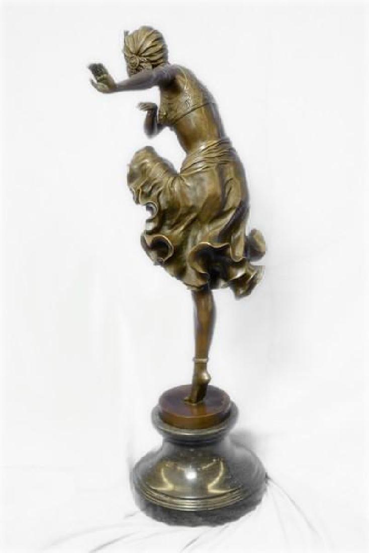 Egyptian Dancer Bronze Sculpture - 6