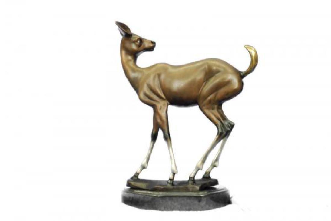 Vienna Deer Bronze Statue - 3