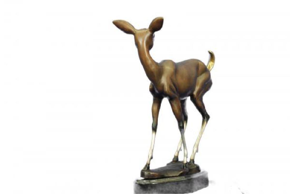 Vienna Deer Bronze Statue - 4
