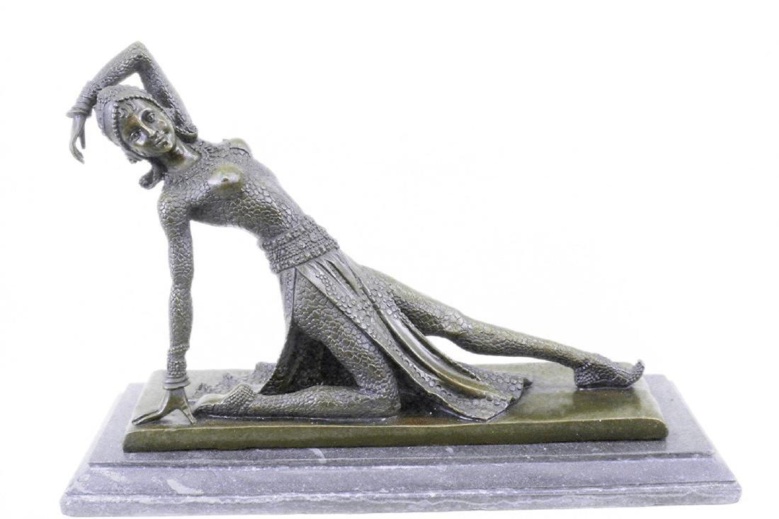 Show Girl Dancer Bronze Sculpture