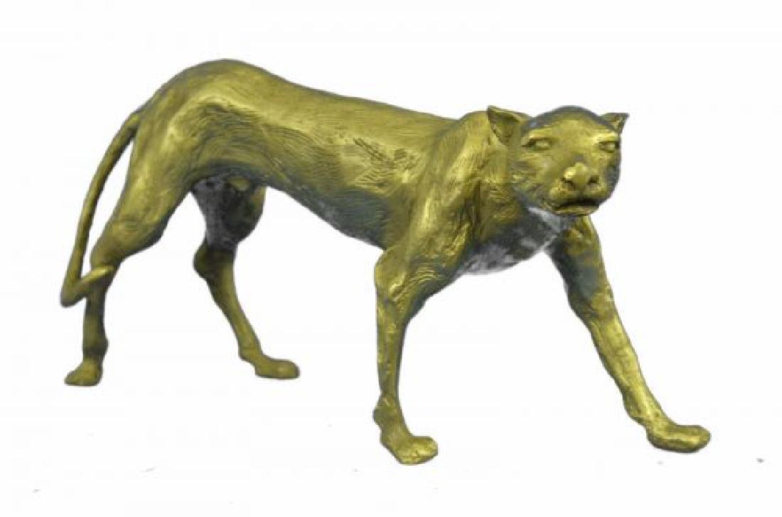 Cougar Puma Bronze Sculpture