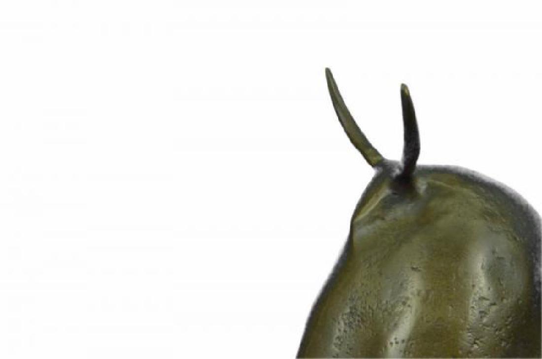 Dark Brown Patina Fighting Bull Bronze Sculpture - 6