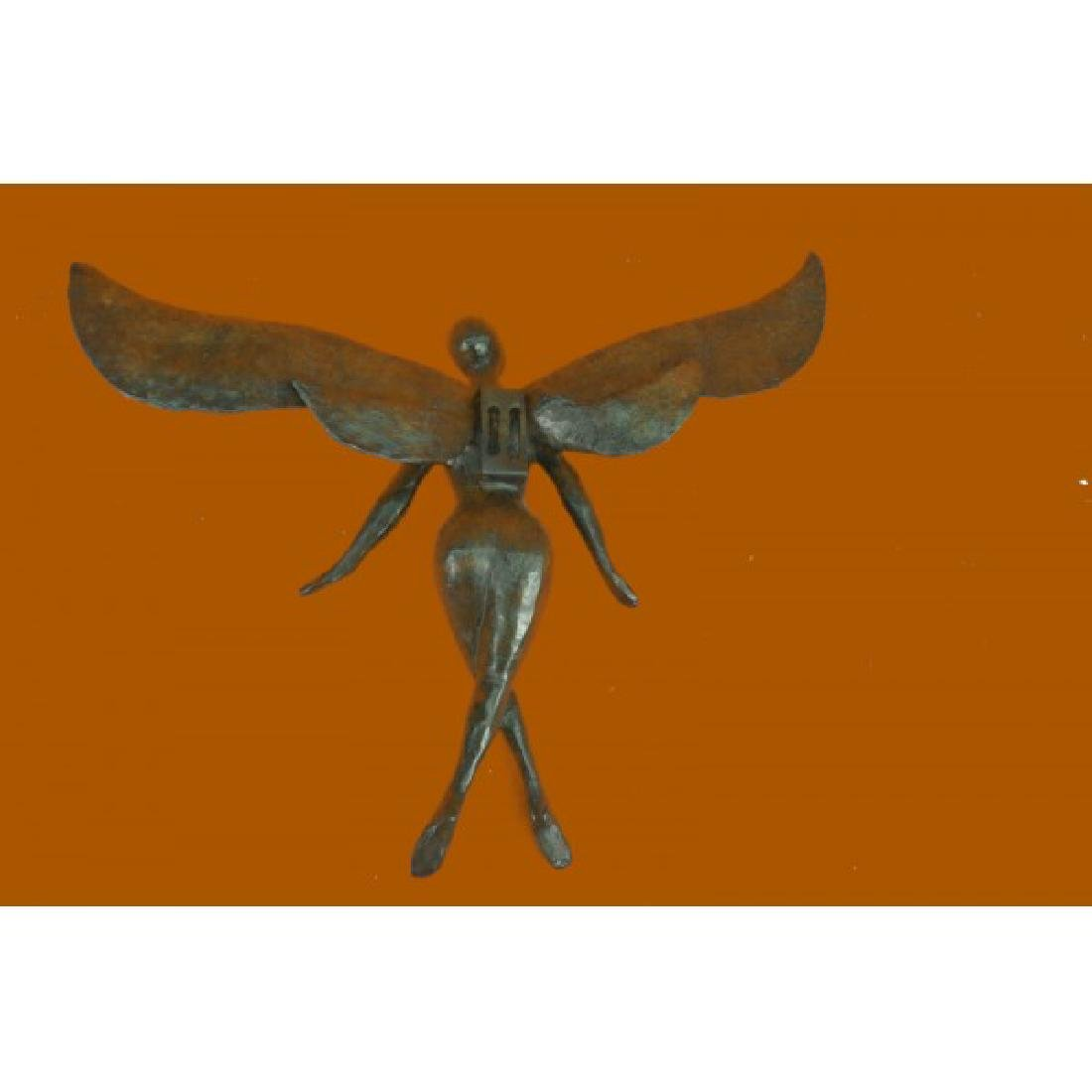 Brown Patina Bronze Sculpture - 2