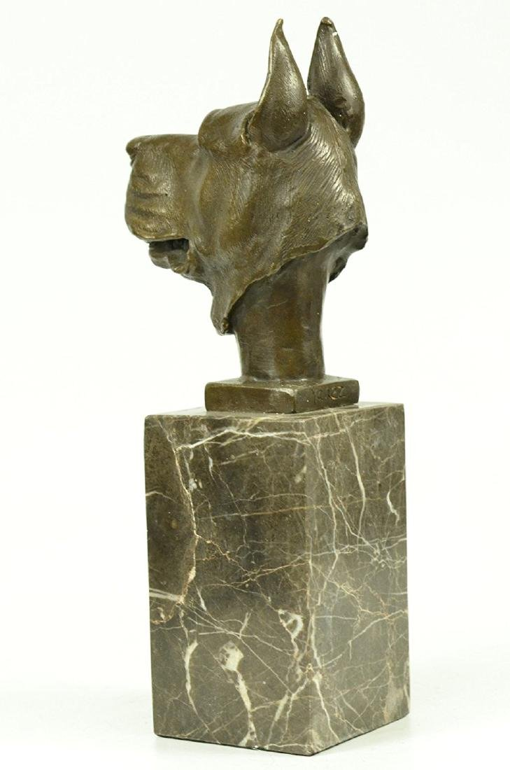Great Dane Dog Lover Bronze Sculpture - 3