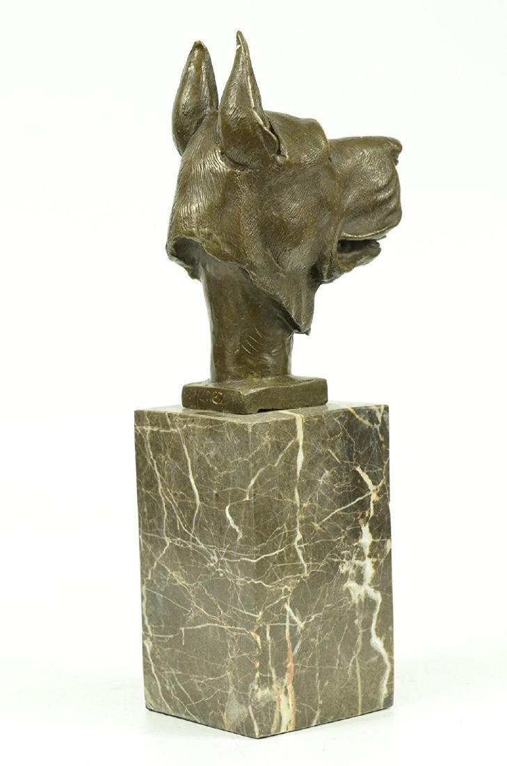 Great Dane Dog Lover Bronze Sculpture - 4