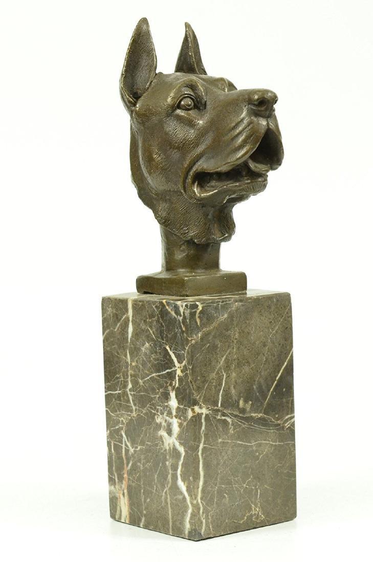 Great Dane Dog Lover Bronze Sculpture - 5