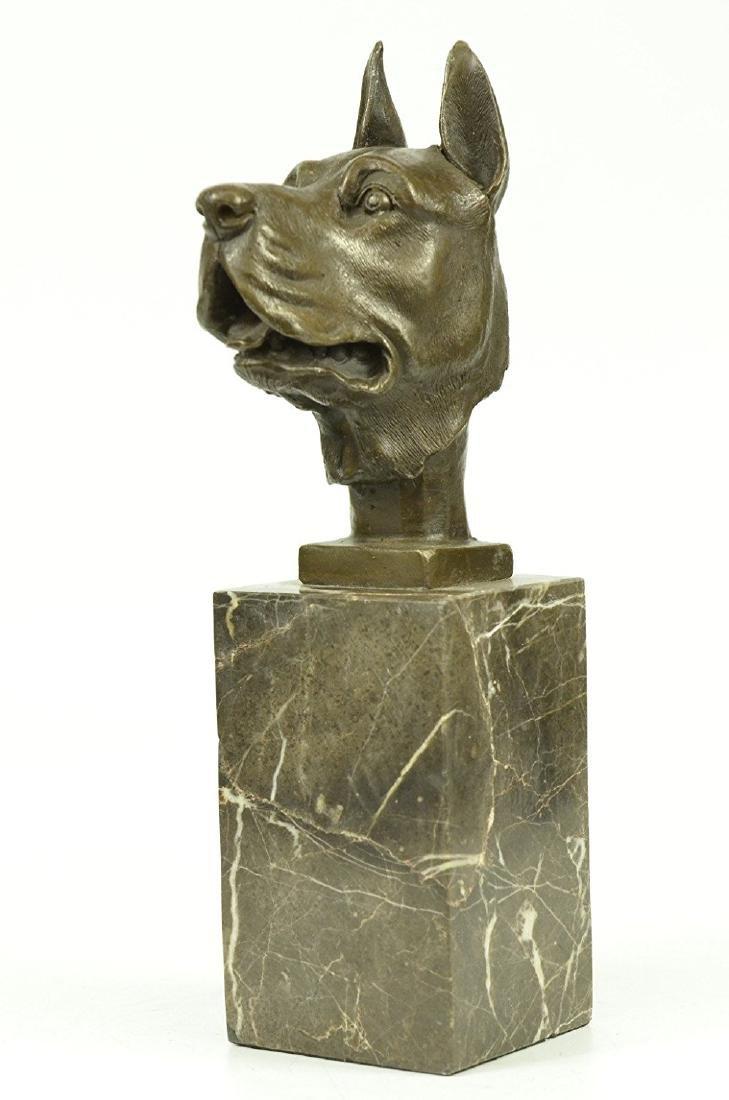 Great Dane Dog Lover Bronze Sculpture - 7