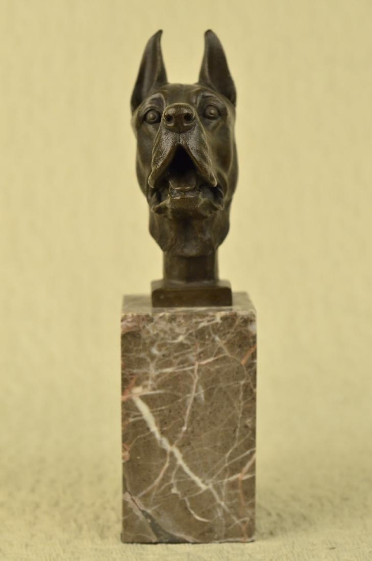 Great Dane Dog Lover Bronze Sculpture - 8
