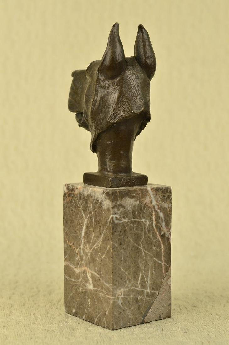 Great Dane Dog Lover Bronze Sculpture - 9