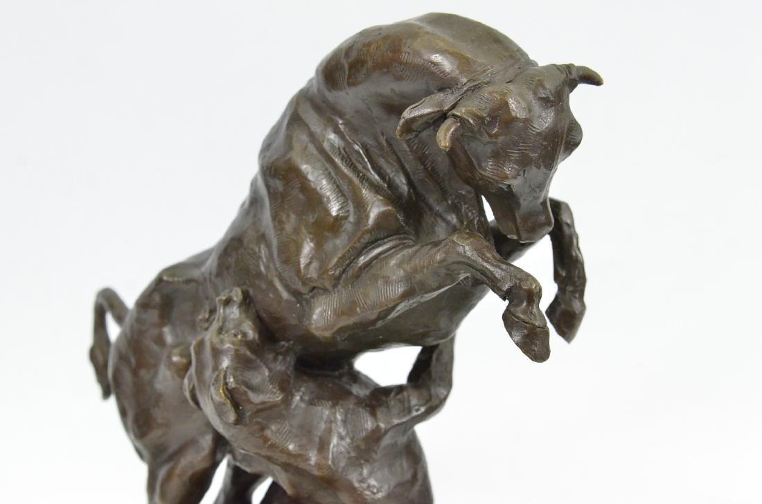 Confrontation between Bull Dog Bronze Sculpture - 2