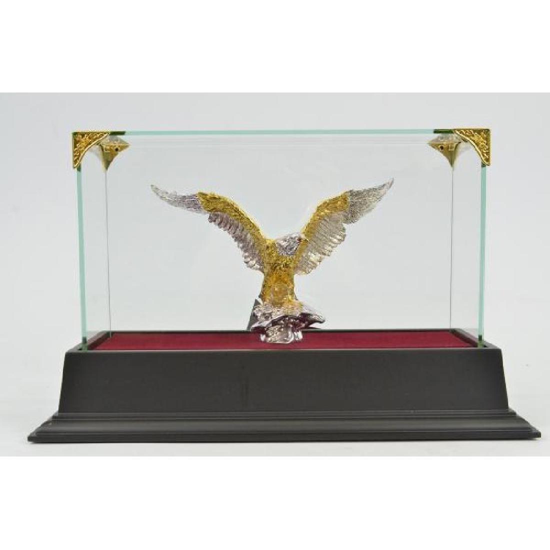 Gold Plexiglases Art Deco Silver Collectible Statue