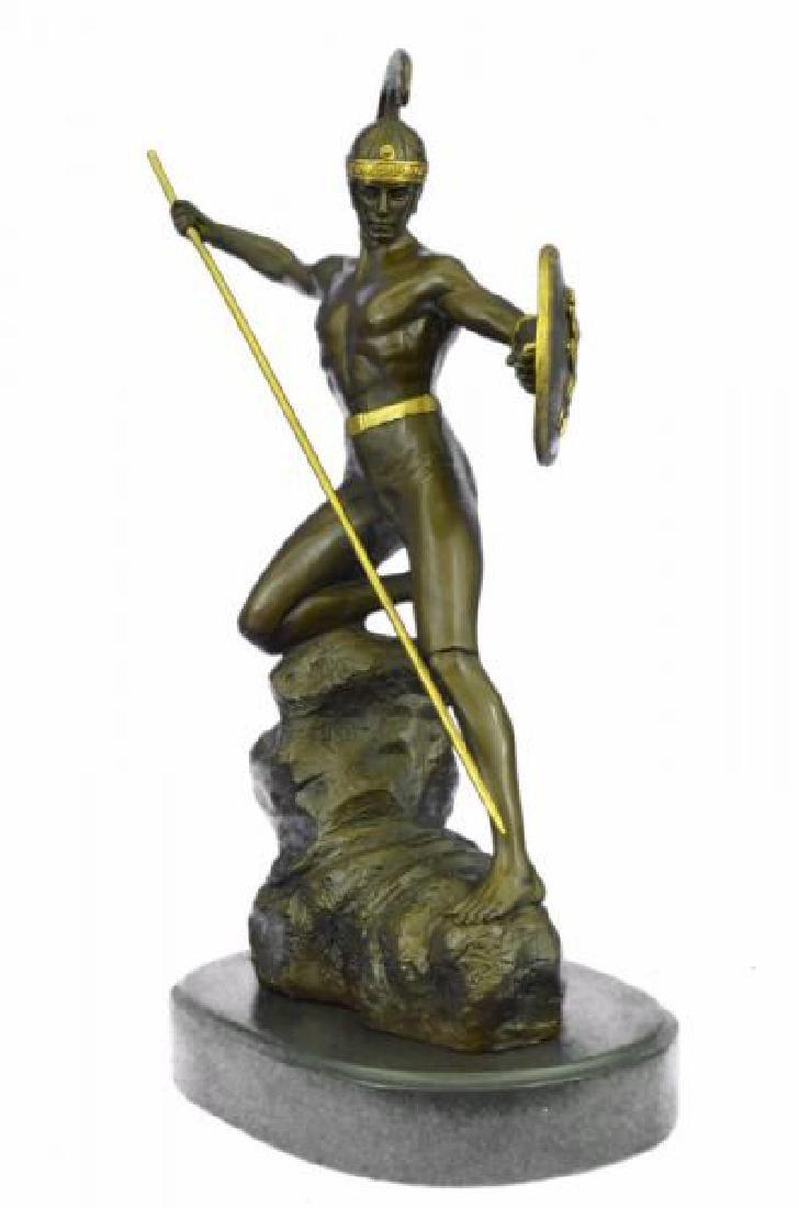 Nude Roman Warrior Bronze Sculpture