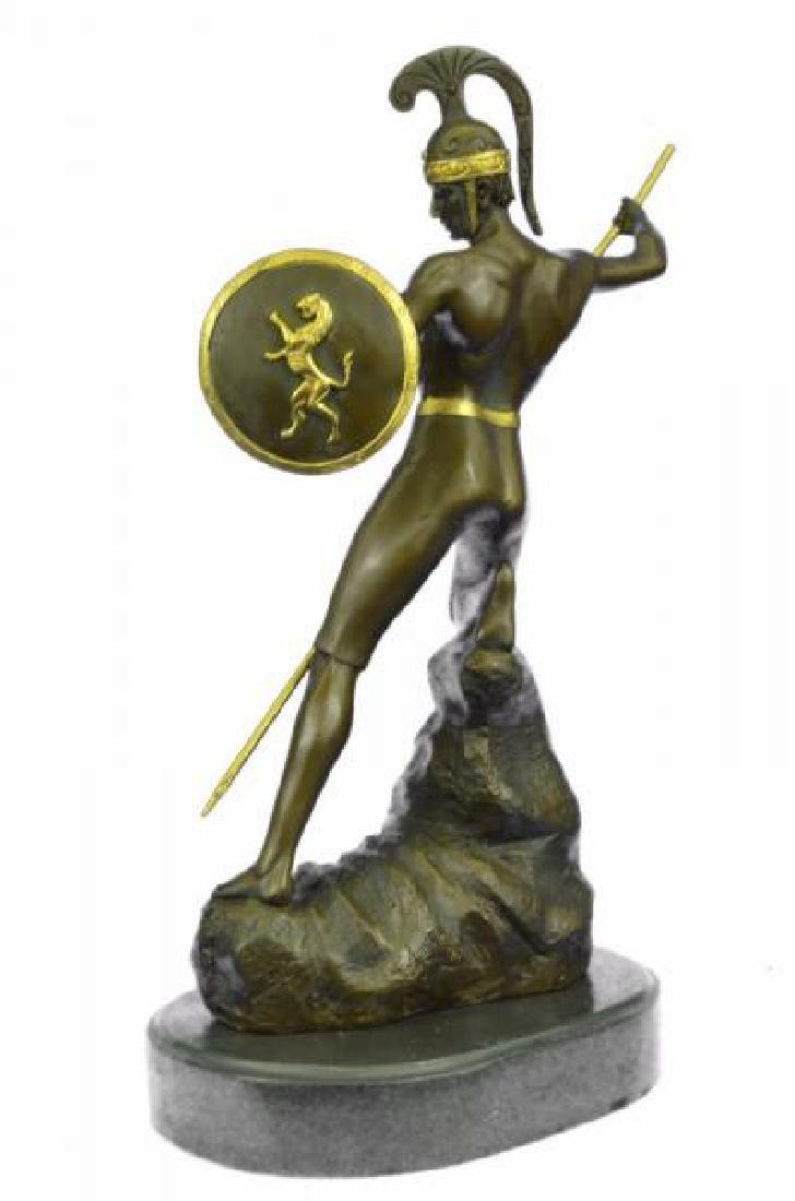 Nude Roman Warrior Bronze Sculpture - 2