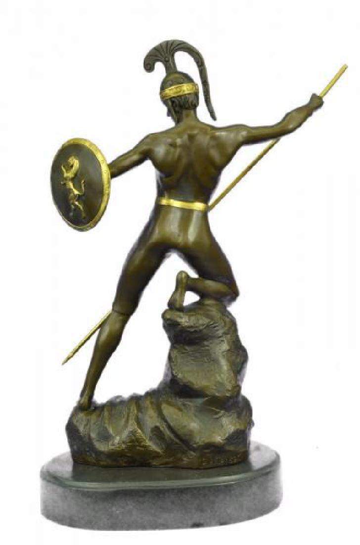 Nude Roman Warrior Bronze Sculpture - 3