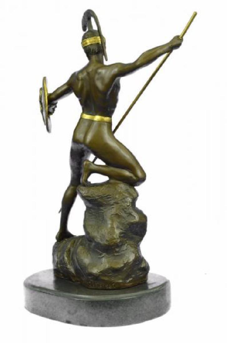 Nude Roman Warrior Bronze Sculpture - 4