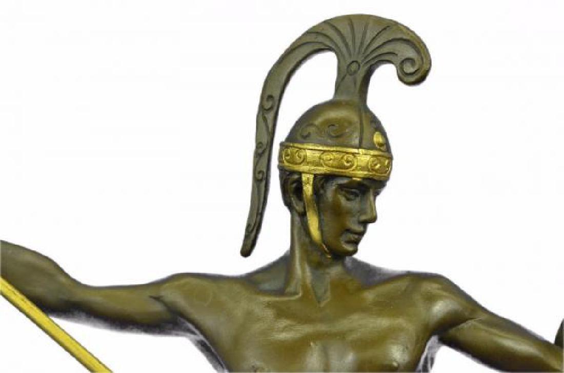 Nude Roman Warrior Bronze Sculpture - 6