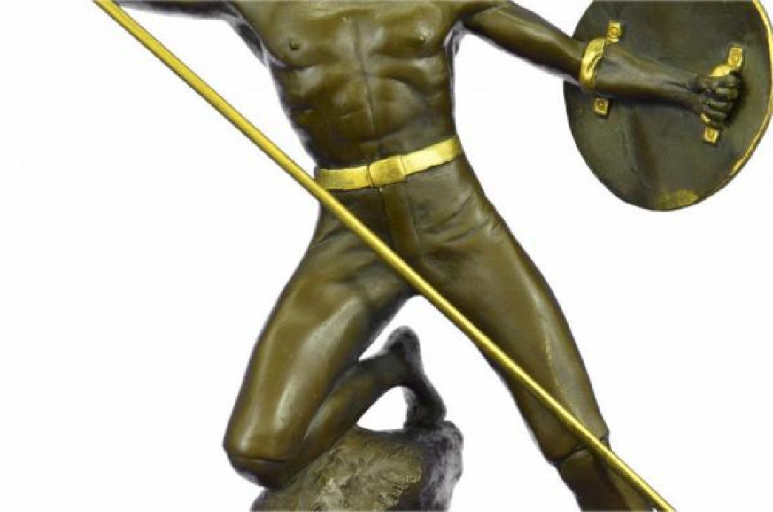 Nude Roman Warrior Bronze Sculpture - 7