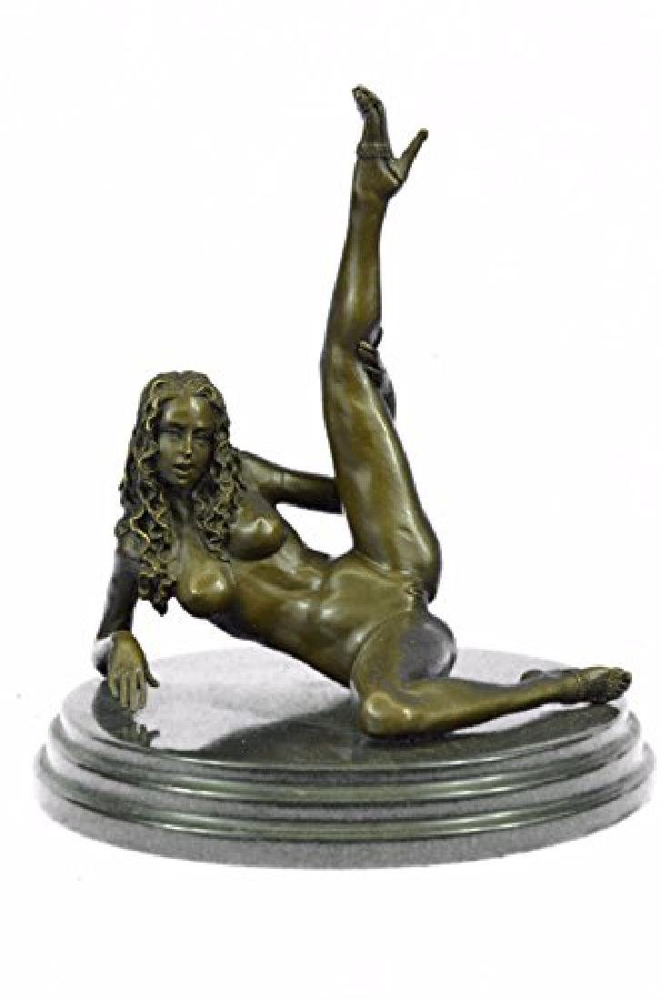 Nude Naked Woman Bronze Sculpture