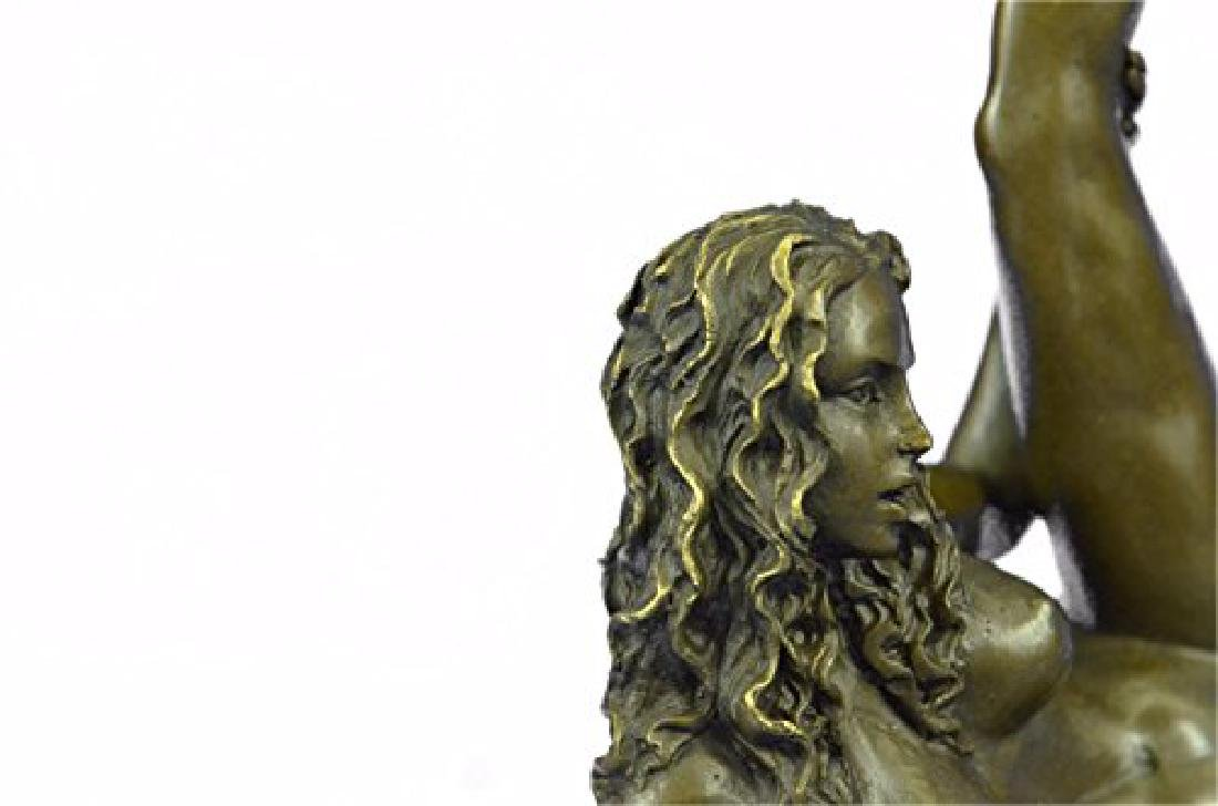 Nude Naked Woman Bronze Sculpture - 2