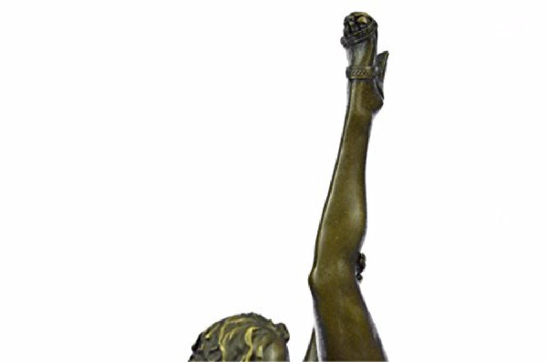 Nude Naked Woman Bronze Sculpture - 3