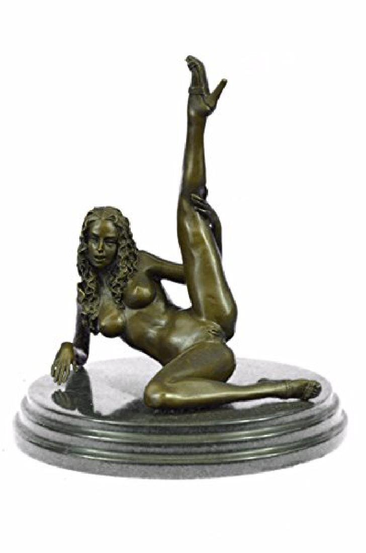 Nude Naked Woman Bronze Sculpture - 5