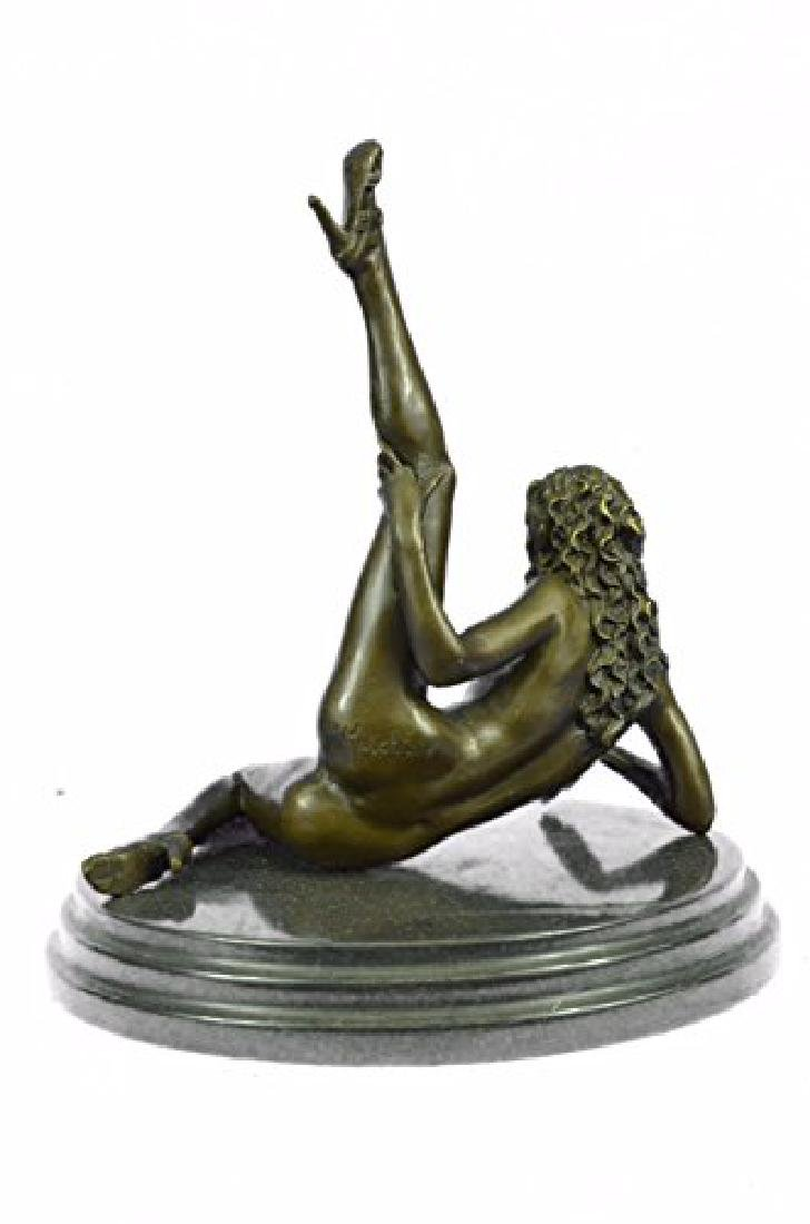 Nude Naked Woman Bronze Sculpture - 6