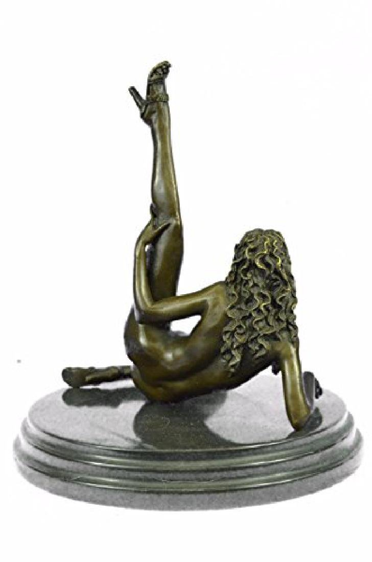 Nude Naked Woman Bronze Sculpture - 7