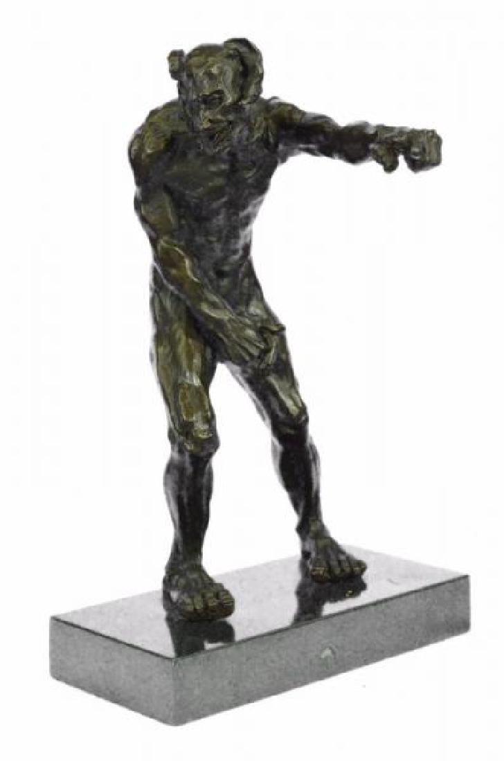 Devil Holding His Phallus Bronze Sculpture