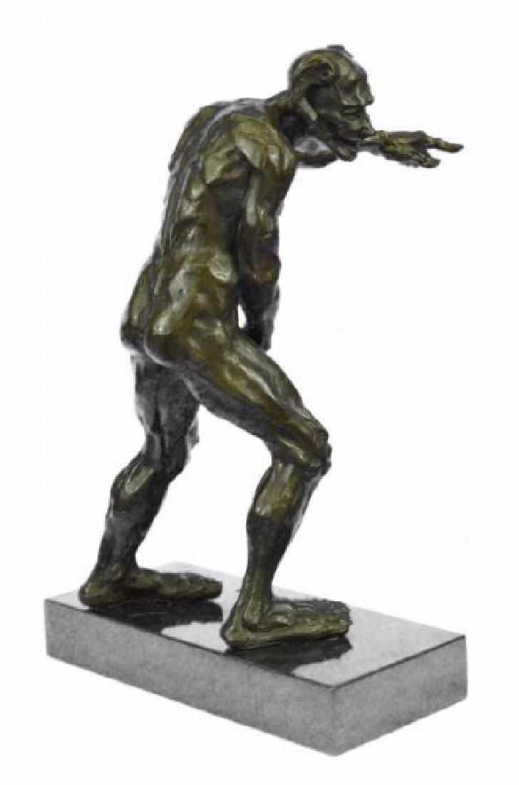 Devil Holding His Phallus Bronze Sculpture - 2