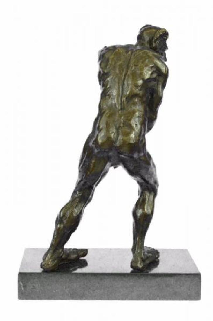 Devil Holding His Phallus Bronze Sculpture - 3