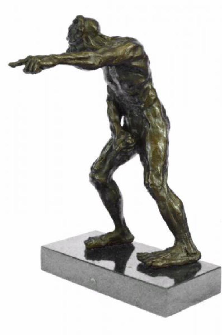 Devil Holding His Phallus Bronze Sculpture - 5
