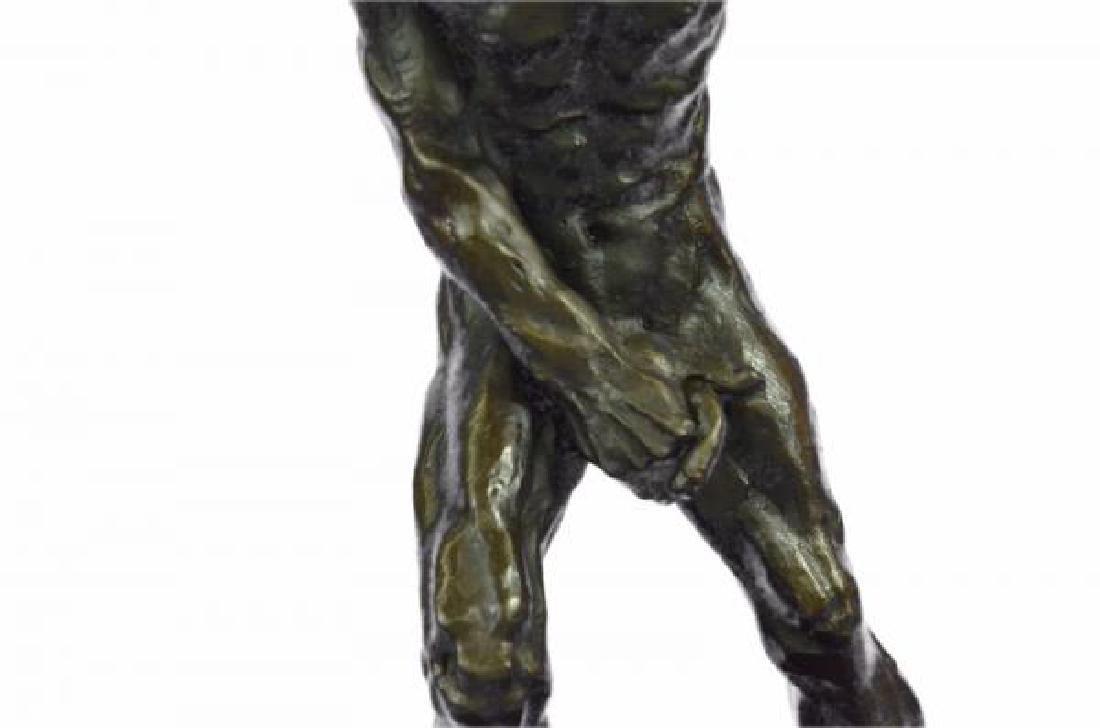 Devil Holding His Phallus Bronze Sculpture - 7