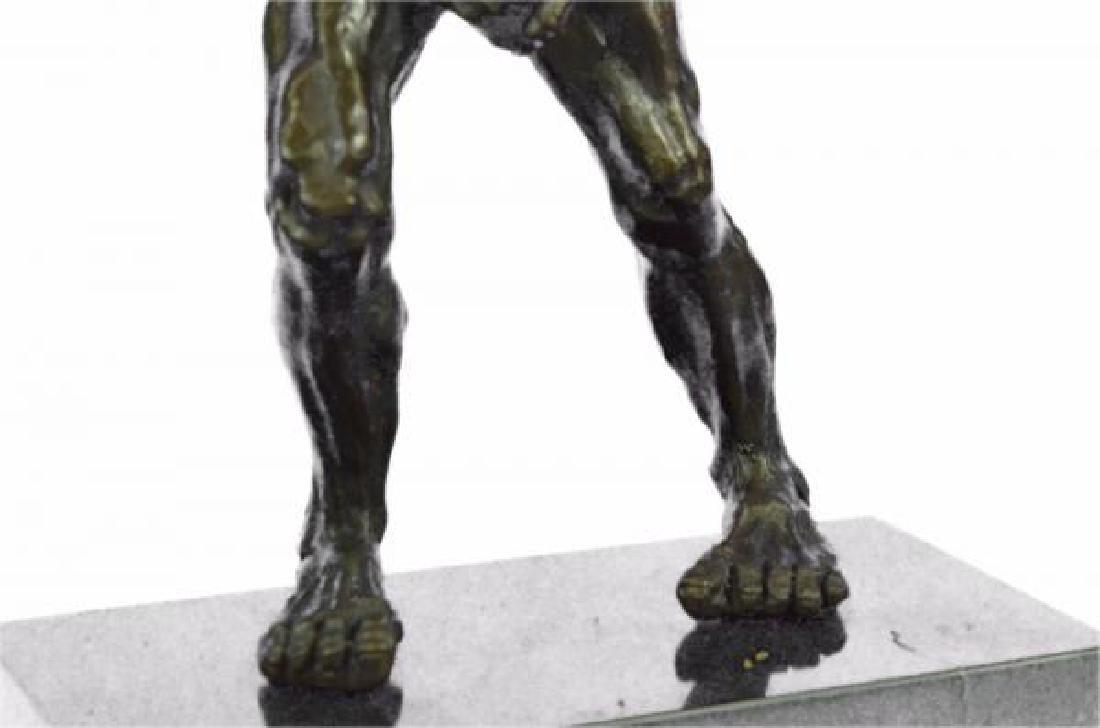 Devil Holding His Phallus Bronze Sculpture - 8
