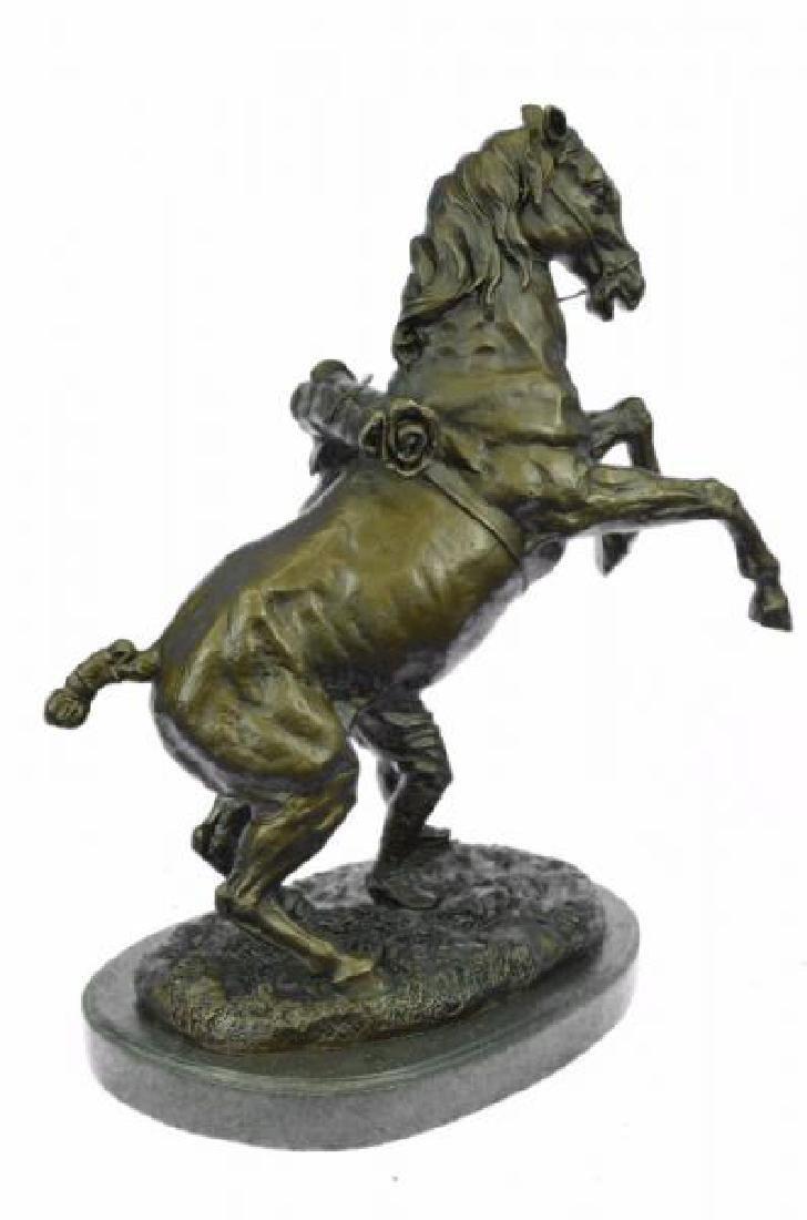 Man With Horse Bronze Sculpture - 4
