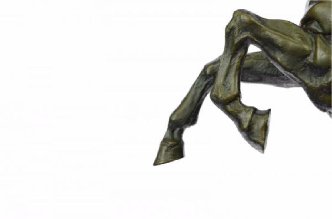 Man With Horse Bronze Sculpture - 7