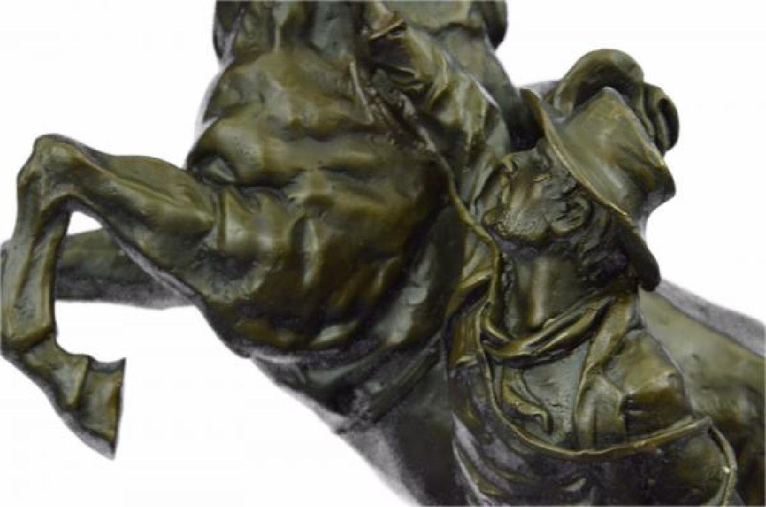 Man With Horse Bronze Sculpture - 8