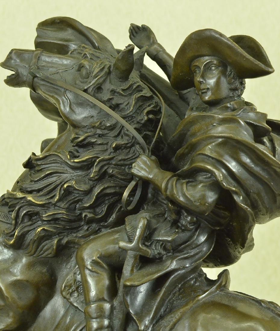 Napoleon Crossing the Alps Bronze Sculpture on Marble - 2