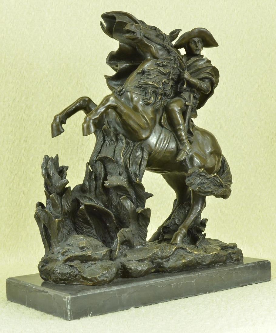 Napoleon Crossing the Alps Bronze Sculpture on Marble - 3