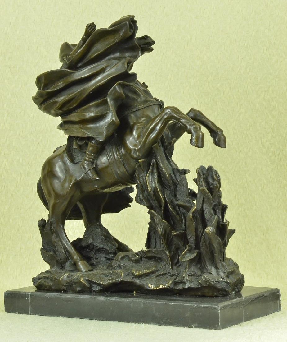 Napoleon Crossing the Alps Bronze Sculpture on Marble - 4