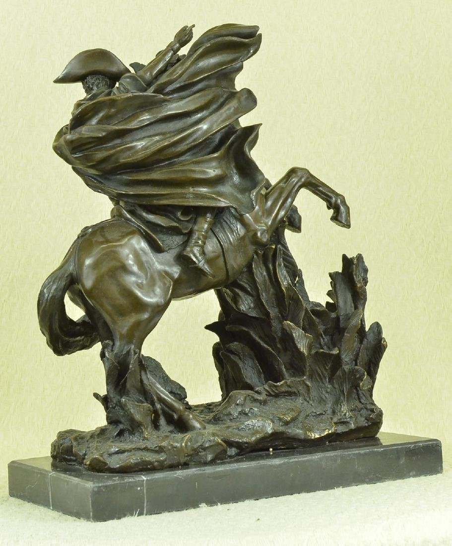 Napoleon Crossing the Alps Bronze Sculpture on Marble - 5