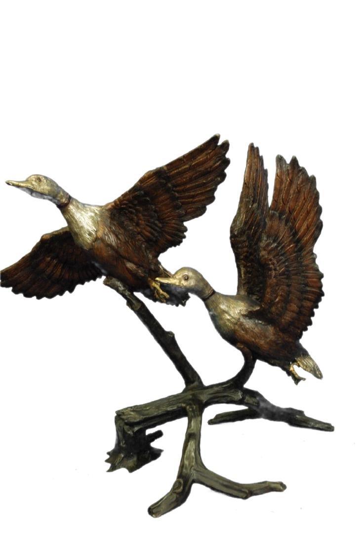 Water Fountain Flying Swans Bronze Sculpture