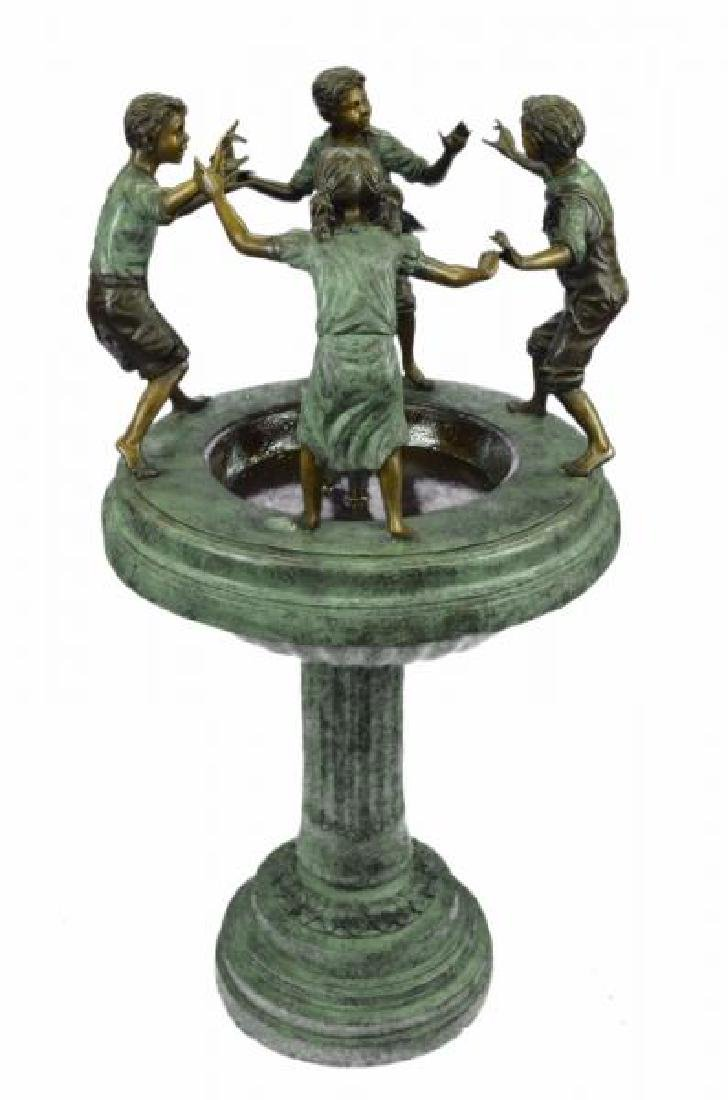 Dancing Kids Boys and Girl Water Fountain Bronze