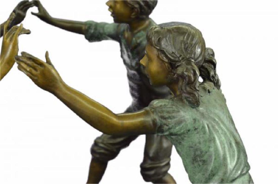 Dancing Kids Boys and Girl Water Fountain Bronze - 7