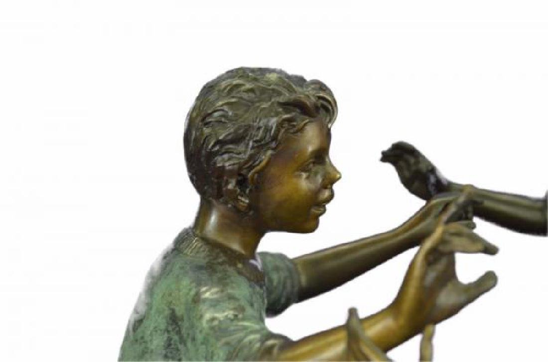 Dancing Kids Boys and Girl Water Fountain Bronze - 8