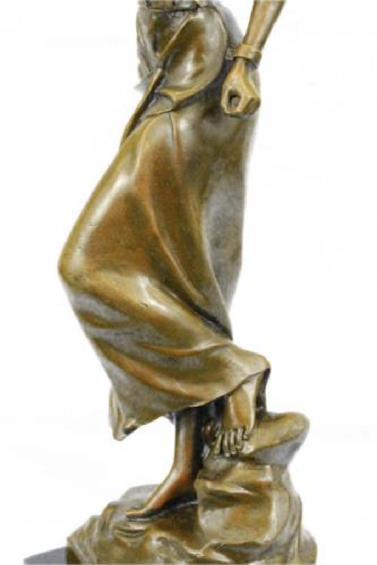 Native American Girl Bronze Sculpture - 3