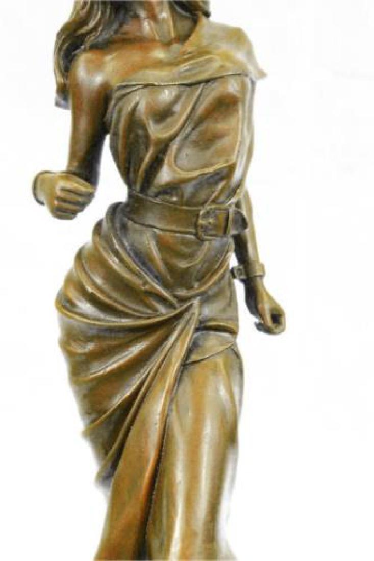 Native American Girl Bronze Sculpture - 4