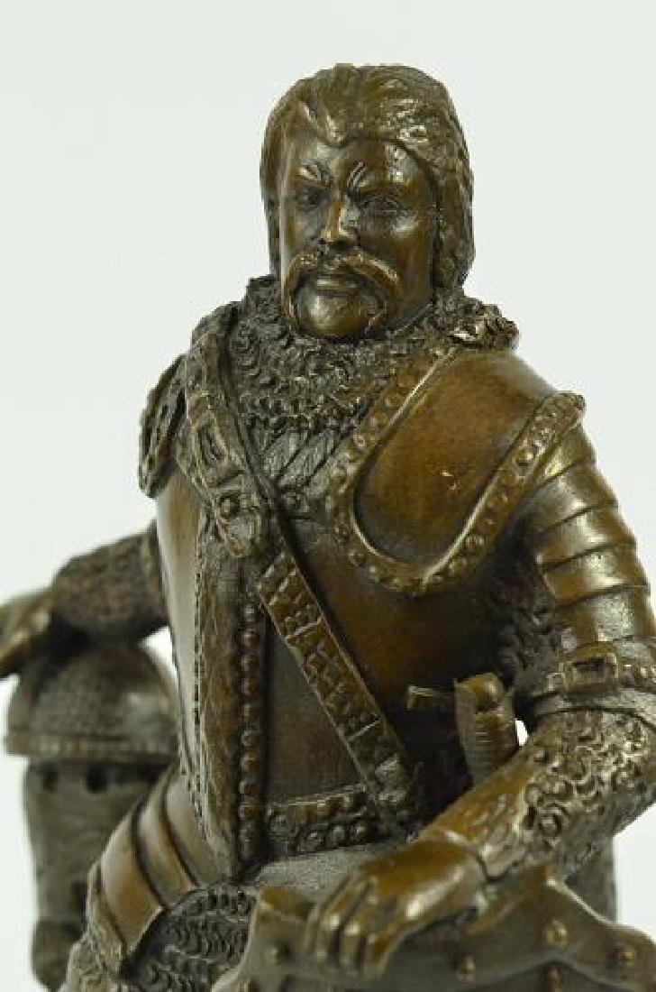 Armor Viking Warrior Bronze Sculpture - 2