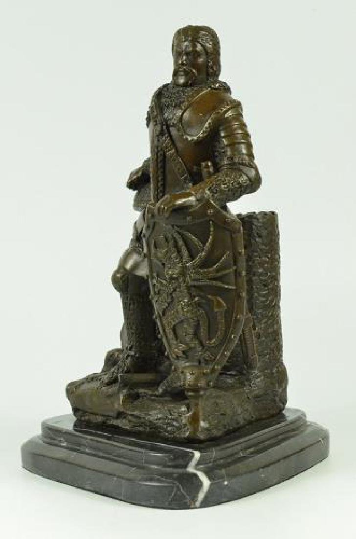 Armor Viking Warrior Bronze Sculpture - 3