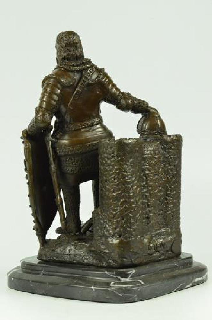 Armor Viking Warrior Bronze Sculpture - 4