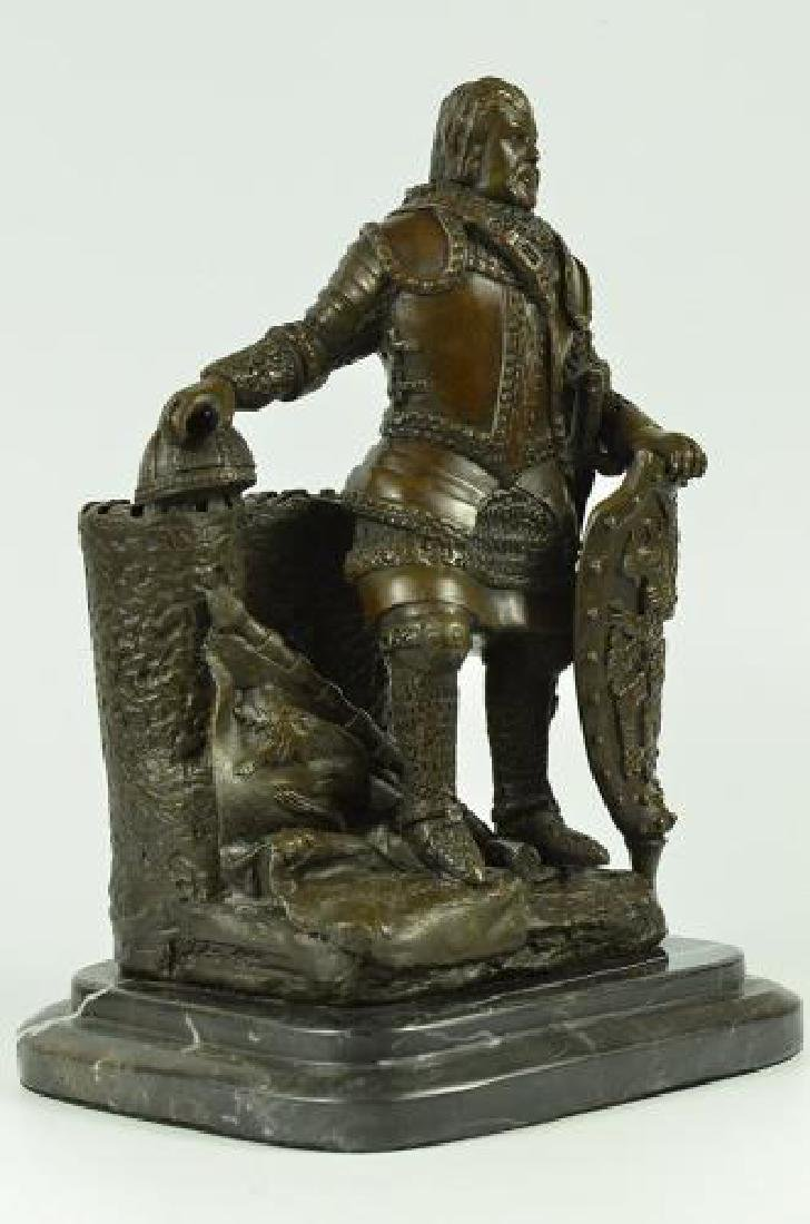Armor Viking Warrior Bronze Sculpture - 6